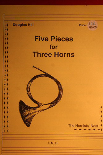 Hill, Douglas - Five Pieces for Three Horns