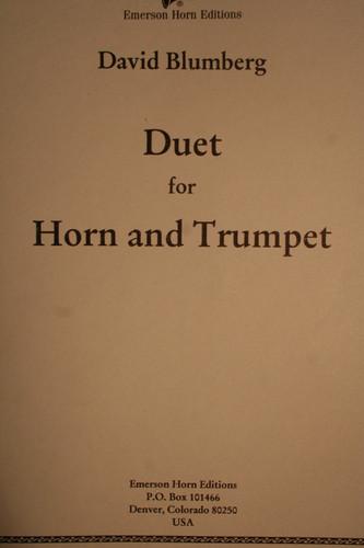 Blumberg, David - Duet For Horn & Trumpet