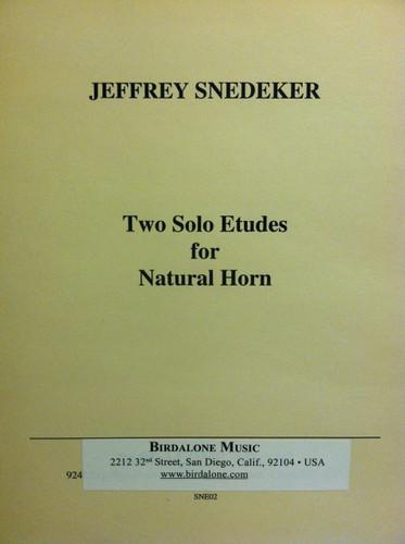 Snedeker, Jeffrey - Two Solo Etudes