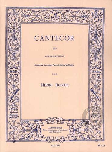 Busser, Henri - Cantecor For Horn & Piano