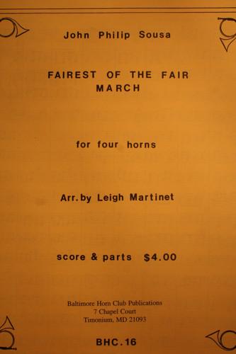 Sousa, John Philip - Fairest of the Fair March