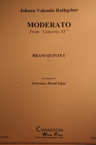 """Rathgeber, Johann - Moderato From """"Concerto XV"""""""