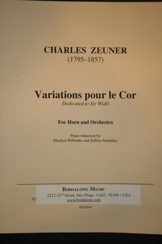 Zeuner, Charles - Variations For The Horn (1795-1857)