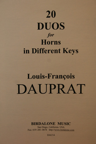 Dauprat - 20 Duos for Horns