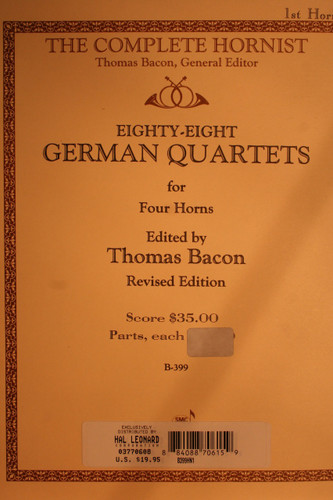 Bacon - German Quartets Hn1