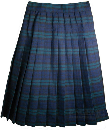 Girls School Uniform Pleated Skirt Plaid #79 BYBF