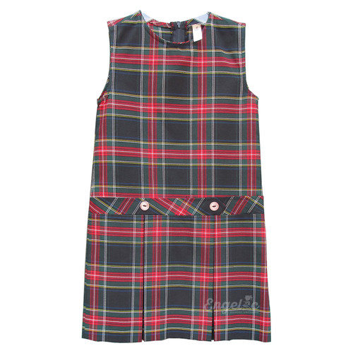 Box Pleated Low Waisted Jumper | Plaid T | Color  #63