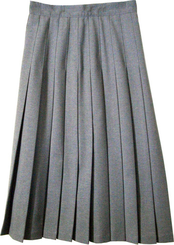 Juniors School Uniform Pleated Skirt Heather Grey