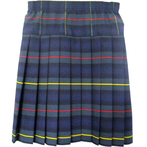 Girls School Uniform Yoke Pleated Skirt  Plaid # 83