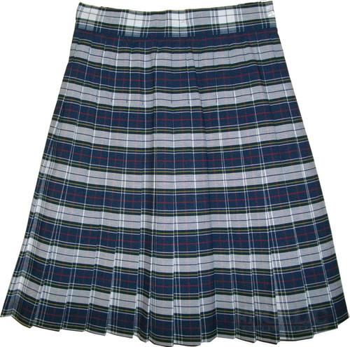 Girls School Uniform Pleated Skirt Plaid #8B GY