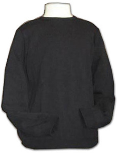 Sweater Crewneck Pullover | Long Sleeves | Black |100% Acrylic