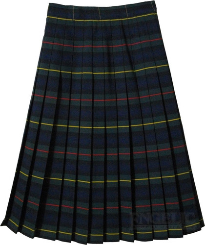 Juniors School Uniform Pleated Skirt Plaid #83