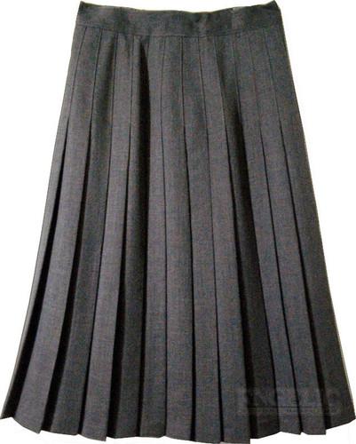 Juniors School Uniform Pleated Skirt Grey Poly/Wool