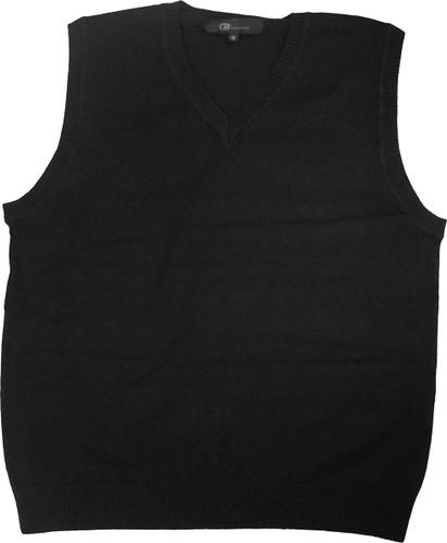 LJ Imports Girls Sleeveless Cotton Sweater Vest  Black