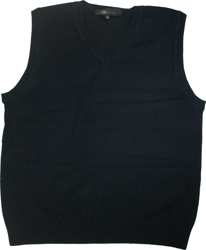 LJ Imports Junior Kids Sleeveless Cotton Sweater Vest | Navy