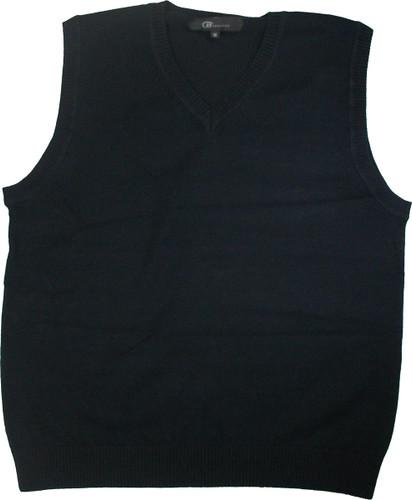 LJ Imports Junior Kids Sleeveless Cotton Sweater Vest   Navy