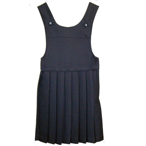 Bib Top Pleated Jumper Navy