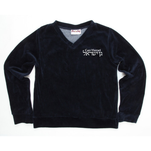 Sweater Velours Long Sleeves with Gan Yisroel Logo