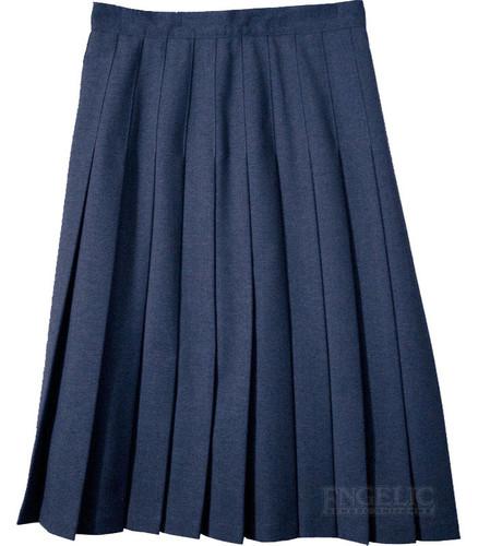 Junior Skirt Pleats Stitched Down Navy