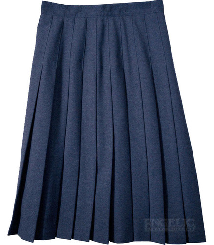Junior Skirt Pleats Stitched Down Navy or Black  (EXCLUSIVE FABRIC)