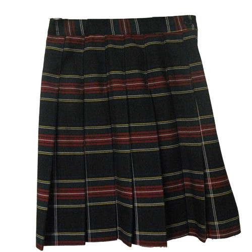 Girls School Uniform Pleated Skirt Plaid T