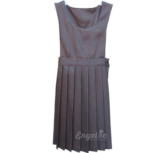 Girls School Uniform Pleated Jumper Grey