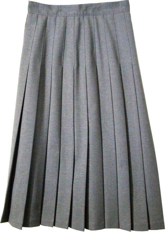 Juniors School Uniform Pleated Skirt Heather Grey - Engelic Uniforms