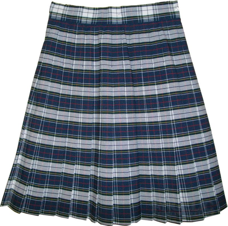 Girls School Uniform Pleated Skirt Plaid #8B GY - Engelic Uniforms