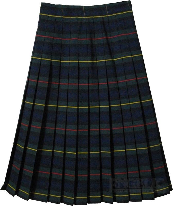 Juniors School Uniform Pleated Skirt Plaid #83 - Engelic Uniforms