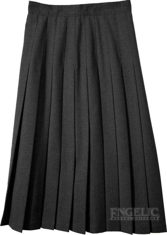 juniors school pleated skirt black poly wool