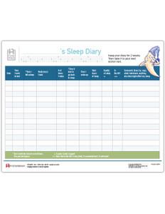Sleep Diary Tearpad (267A) Pritchett & Hull Associates, Inc.