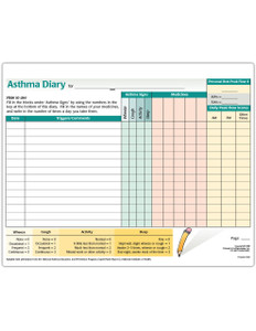 Asthma Diary Tearpad (50 sheets per pad)