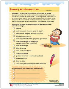 Spanish Pediatric Warning Signs Tear Sheet