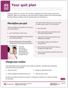 Quit Tobacco Use - front side