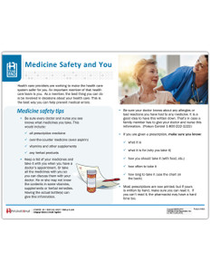 Medicine Safety Tearpad Side 1