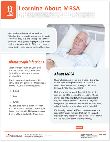 Learning about MRSA - front side
