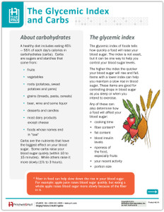 The Glycemic Index and Carbs - front side