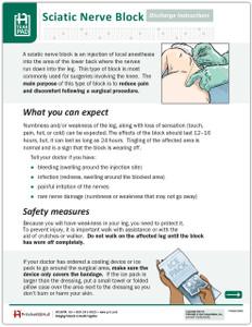 Sciatic Nerve Block Tearpad (50 sheets per pad)