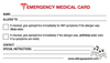 Included, Emergency Medical Card