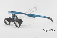 TTL dental loupes surgical loupes H-series 2.5X Sports frames Bright Blue color