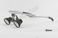 TTL dental loupes surgical loupes H-series 2.5X Sports frames Silver color