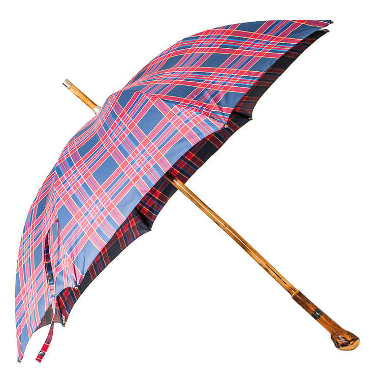 Francesco Maglia Wood Tartan Red Umbrella