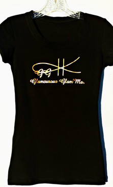 Cotton/spandex very soft comfortable tee.  Classy sassy tee.