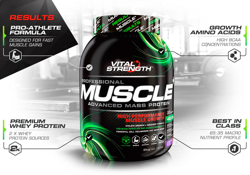 Vitalstrength Pro Muscle Protein Powder Features