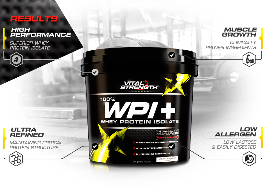 WPI+ Whey Protein Isolate Protein Powder Features