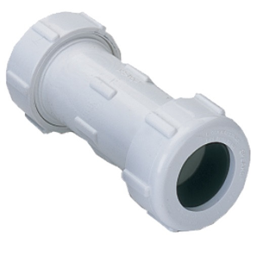 "1 1/2"" IPS PVC Compression Coupling (White)"