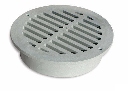 """NDS 12"""" Round Grate - Gray (Each)"""