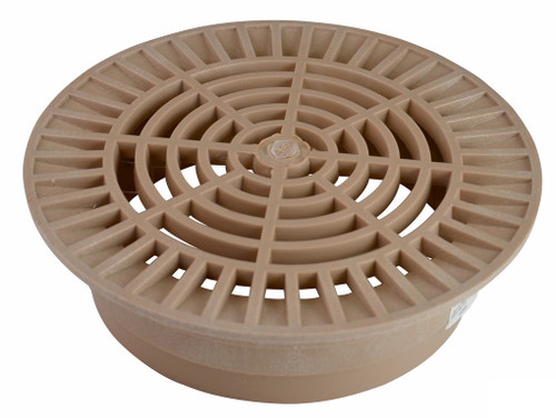 """NDS 10"""" Round Grate for 8"""" Pipe - Sand (Each)"""