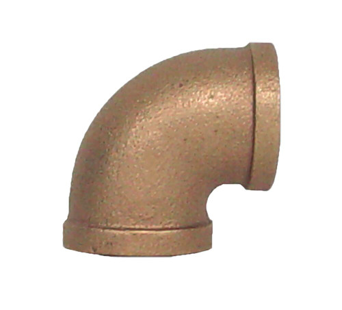 "1"" Bronze 90 Elbow (1/4) (FPT x FPT)"