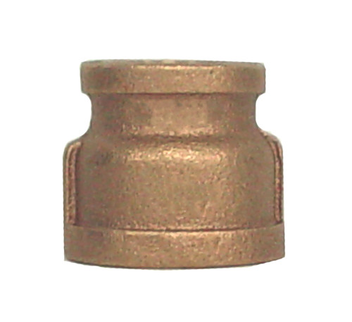 """1 1/2"""" x 1"""" Bronze Reducer Coupling (FPT x FPT)"""